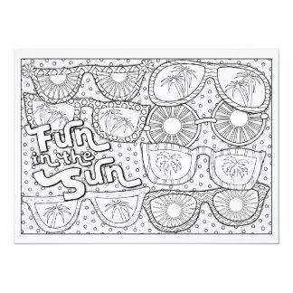 OrnaMENTALs Fun in the Sun Color Your Own Card