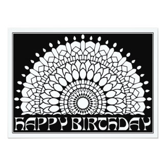 OrnaMENTALs Happy Birthday Mandala Color Your Own Card
