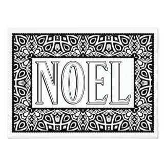 """OrnaMENTALs Noel """"Star Bright"""" Color Your Own 5.5"""" X 7.5"""" Invitation Card"""