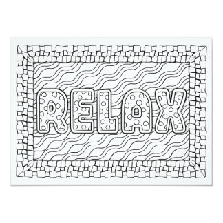 """OrnaMENTALs Relax Swimming Pool Color Your Own 5.5"""" X 7.5"""" Invitation Card"""