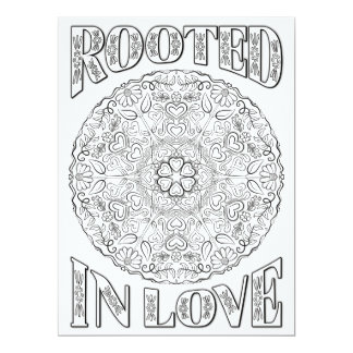 "OrnaMENTALs Rooted in Love Mandala Color Your Own 6.5"" X 8.75"" Invitation Card"