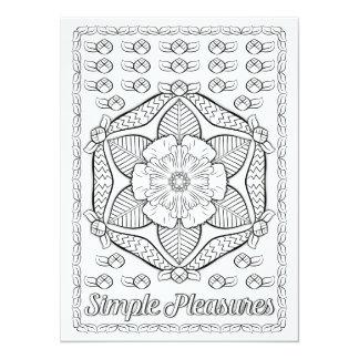 OrnaMENTALs Simple Pleasures Color Your Own Card