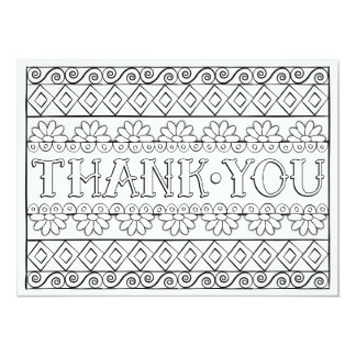 "OrnaMENTALs Thank You Color Your Own 5.5"" X 7.5"" Invitation Card"