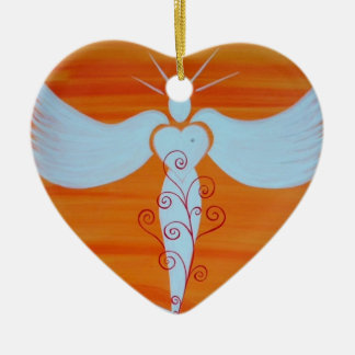 "Ornamentation ""angel for soul partners "" ceramic ornament"