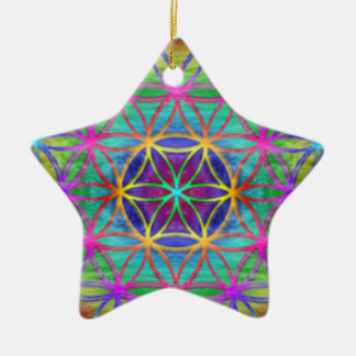 "Ornamentation ~ Healing~Energy ""Flower OF Life "" Ceramic Ornament"