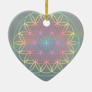 "Ornamentation ~ Heart~Energy ""Flower OF Life "" Ceramic Ornament"