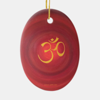 "Ornamentation ""OM "" Ceramic Ornament"