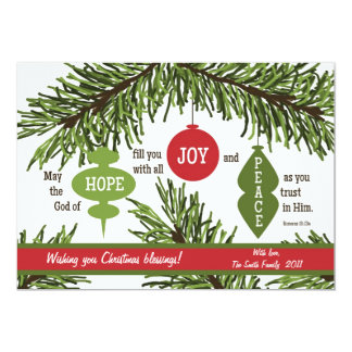 ORNAMENTS 2-Sided Scripture Verse Christmas Card