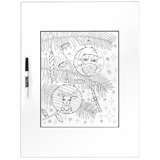 Ornaments Adult Coloring Dry Erase Board
