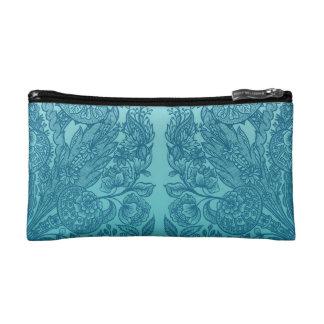 ornaments blue cosmetic bag