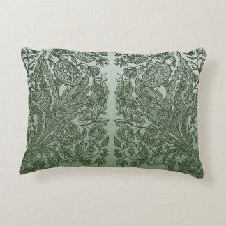 ornaments moss green decorative pillow