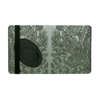 ornaments moss green iPad cover