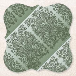ornaments moss green paper coaster