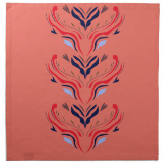 Ornaments orient orange napkin