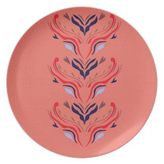 Ornaments orient orange plate