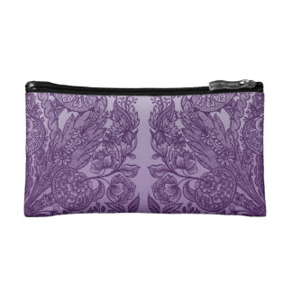 ornaments purple cosmetic bag