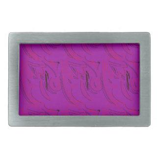 Ornaments purple design rectangular belt buckles