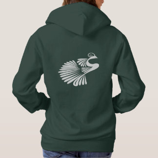 Ornate Abstract Bird Tattoo Design Hoodie