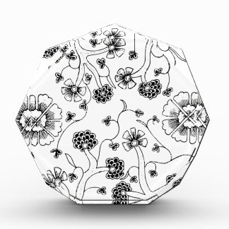 Ornate Abstract Flower Textile Pattern