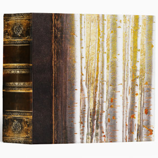 Ornate Antique Magical Forest Book 3 Ring Binders