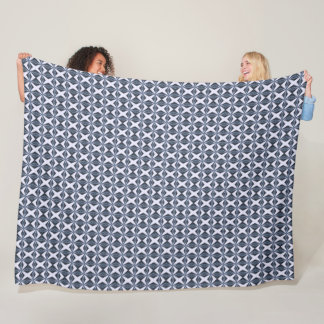 Ornate Arabian Silk Star Pattern Fleece Blanket