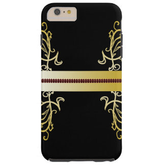 Ornate Black Gold Elegant Fashion CricketDiane Tough iPhone 6 Plus Case