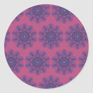 Ornate Boho Mandala Classic Round Sticker