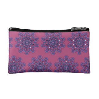 Ornate Boho Mandala Cosmetic Bag