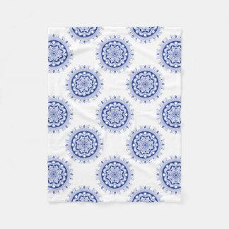 Ornate Boho Mandala Fleece Blanket