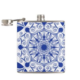 Ornate Boho Mandala Hip Flask