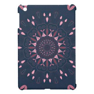 Ornate Boho Mandala Navy and Rose Cover For The iPad Mini