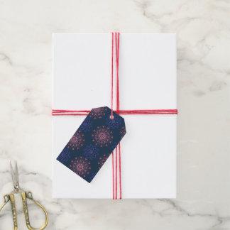 Ornate Boho Mandala Navy and Rose Gift Tags