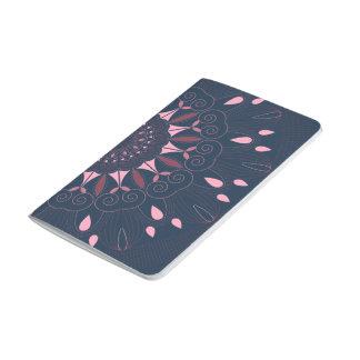 Ornate Boho Mandala Navy and Rose Journal