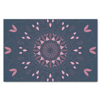 Ornate Boho Mandala Navy and Rose Tissue Paper