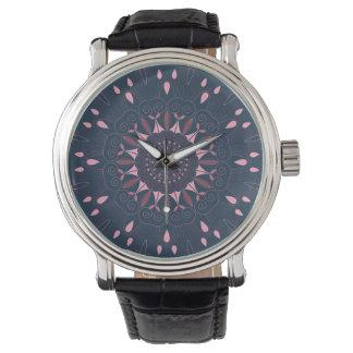Ornate Boho Mandala Navy and Rose Watch
