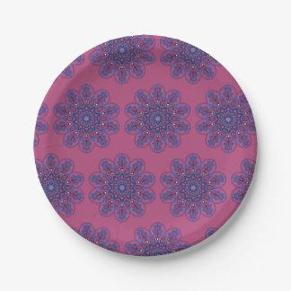 Ornate Boho Mandala Paper Plate