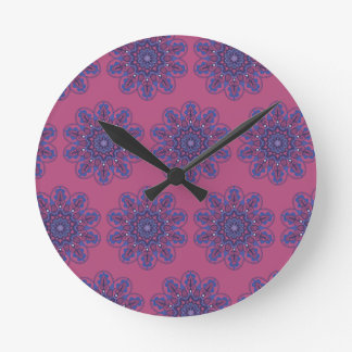 Ornate Boho Mandala Round Clock