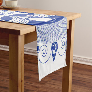 Ornate Boho Mandala Short Table Runner