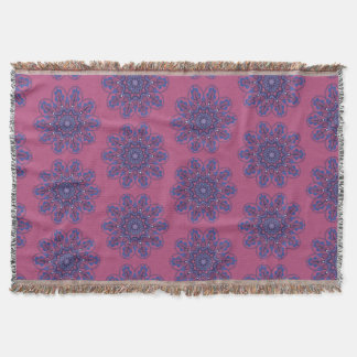 Ornate Boho Mandala Throw Blanket