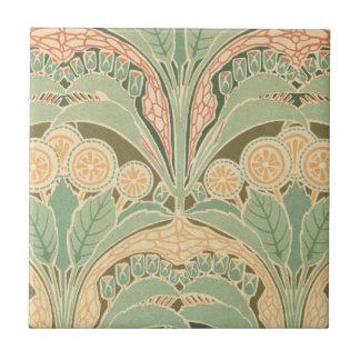 ornate bontanical garden art nouveau art tile