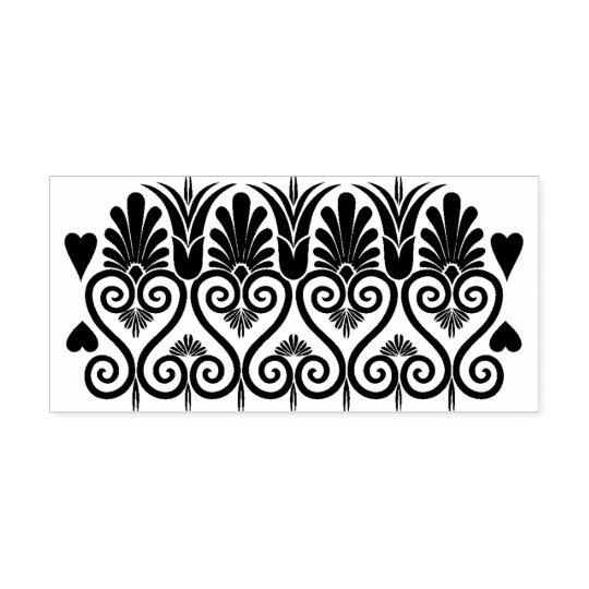 Ornate border pattern rubber stamp
