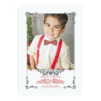 Ornate Bracket Holiday Photo Card