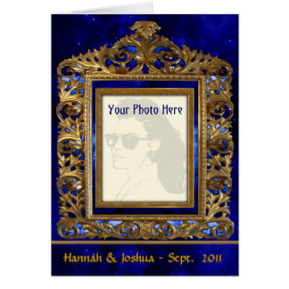 Ornate Brass Frame (Personalized Photo Card) Card