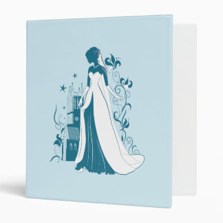 Ornate Bride Silhouette, flowers and gothic castle Vinyl Binder