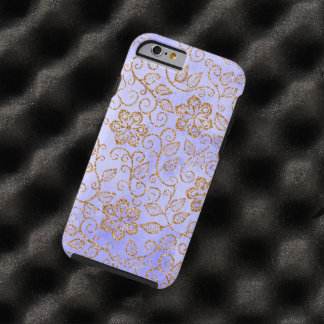 Ornate Chic Cute Girly Vintage Floral Pattern Tough iPhone 6 Case