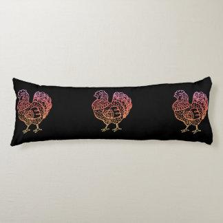 Ornate Chicken Lineart Body Pillow