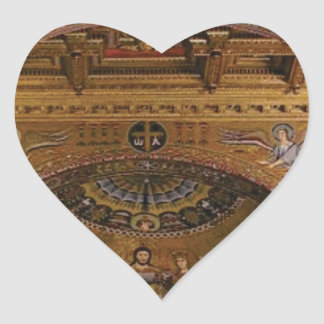 ornate church inside heart sticker