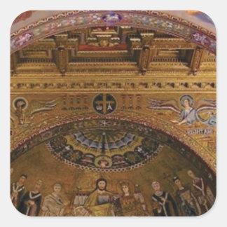 ornate church inside square sticker