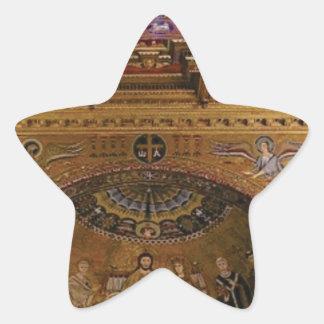 ornate church inside star sticker