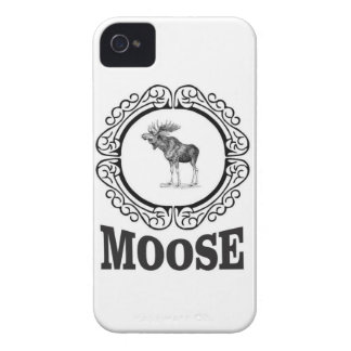 ornate circle moose Case-Mate iPhone 4 case